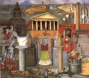 Frida Kahlo - Ma robe se bloque Il - (copie de tableau)