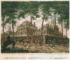 Thomas Birch - pennsylvanie hopital  dans  pin  rue  Crême philadelphia