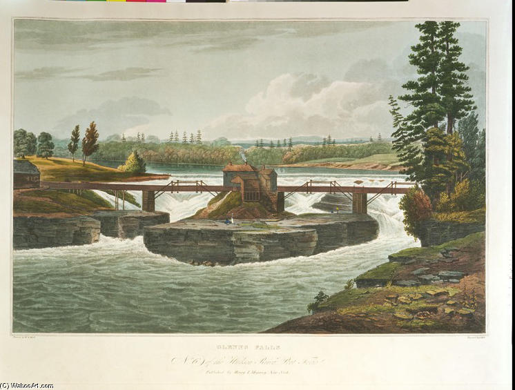 Glenns chutes de William Guy Wall (1792-1864, Ireland) | Reproductions De Qualité Musée William Guy Wall | WahooArt.com