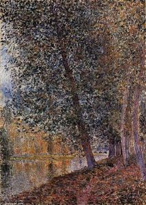 Alfred Sisley - Bords du Loing automne
