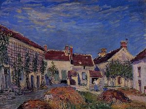 Alfred Sisley - Courtyard at Les Sablons