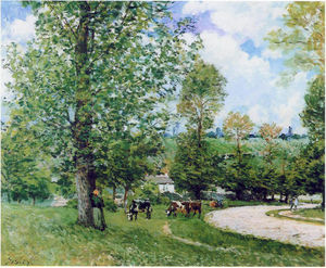 Alfred Sisley - cow pasture proche louveciennes