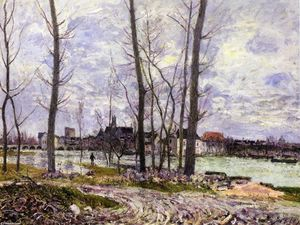 Alfred Sisley - Inondation à Moret sur Loing