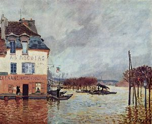 Alfred Sisley - Inondation à Pont-Marley
