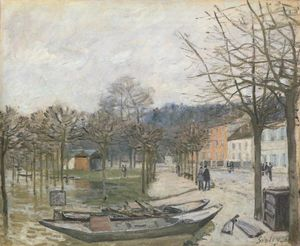 Alfred Sisley - Inondation à Port Marly