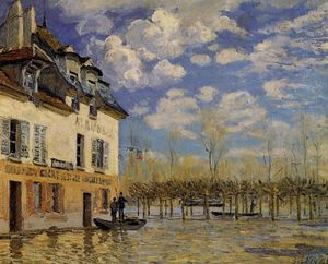 Alfred Sisley - Inondation à Port-Marly 1