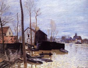 Alfred Sisley - Inondations à Moret