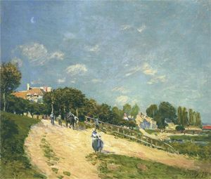 Alfred Sisley - Paysage à Andresy