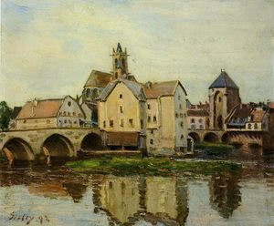 Alfred Sisley - Plus t sur loing , Matin