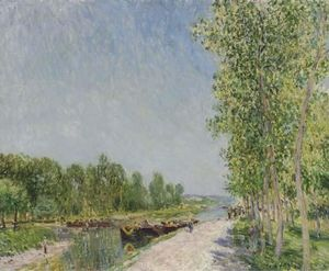 Alfred Sisley - sur les rives du loing Canal