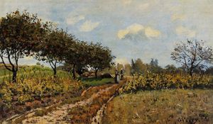 Alfred Sisley - chemin dans le pays