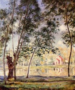 Alfred Sisley - Sunny Afternoon Willows par le Loing