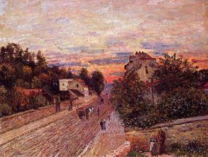 Alfred Sisley - Coucher de soleil à Port Marly