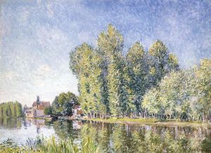 Alfred Sisley - Le Loing à Moret 1