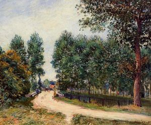 Alfred Sisley - le chemin issus  Saint Mammès  matinale
