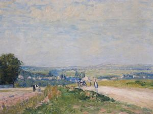 Alfred Sisley - Le chemin vers Montbuisson