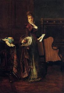 Alfred Stevens - le amour lettre