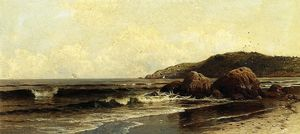 Alfred Thompson Bricher - Cassant surf 1