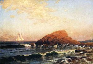 Alfred Thompson Bricher - Petit Bass Rock, Narragansett, RI