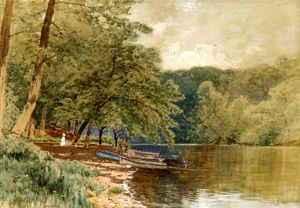 Alfred Thompson Bricher - Barques for Hire
