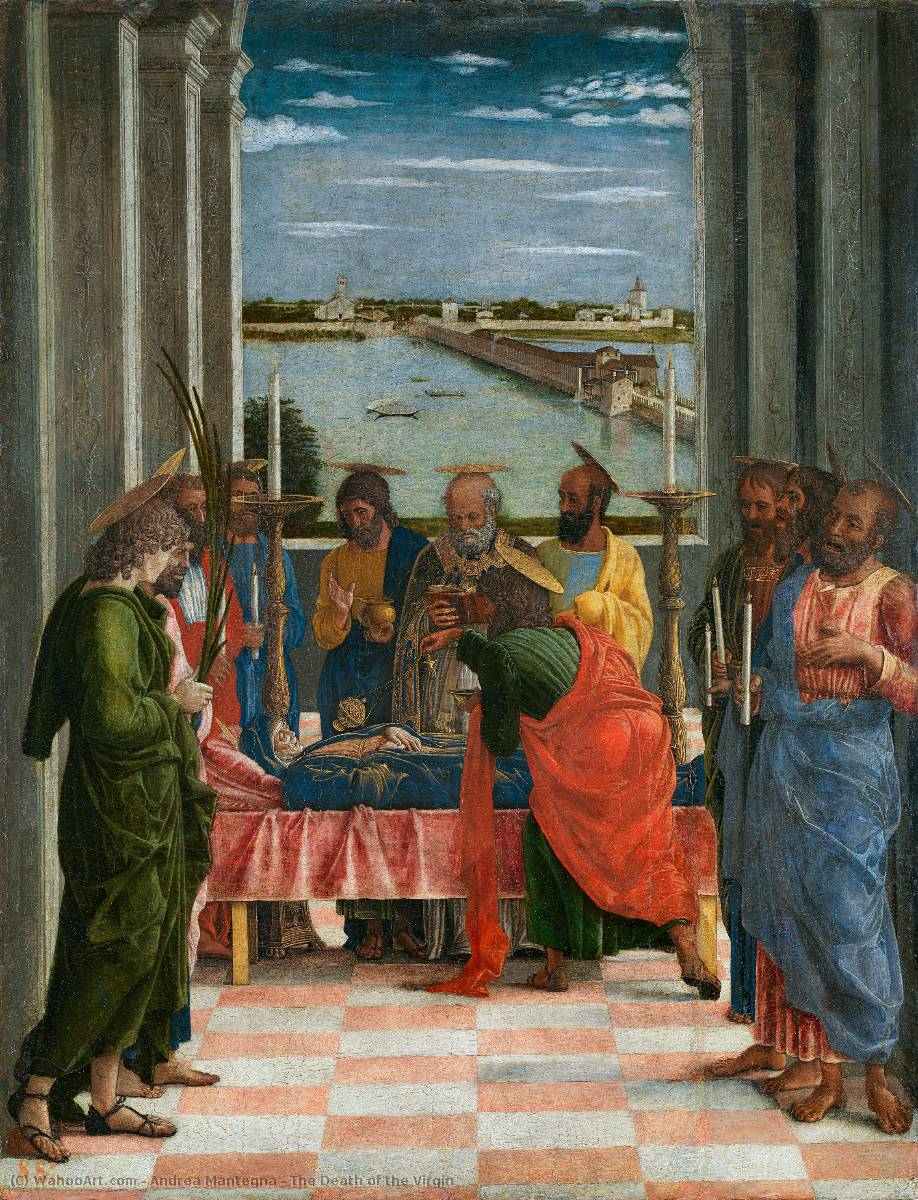 la mort de l` vierge, 1460 de Andrea Mantegna (1431-1506, Italy) | Copie Tableau | WahooArt.com