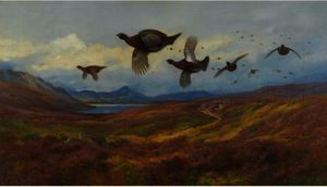 Archibald Thorburn - Embardée De La Guns-Rouge Grouse