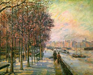 Jean Baptiste Armand Guillaumin - La Place Valhubert, Paris