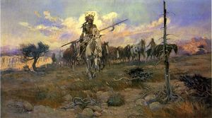 Charles Marion Russell - Bringing Home les Spoils