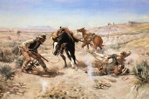 Charles Marion Russell - The Ring Cinch