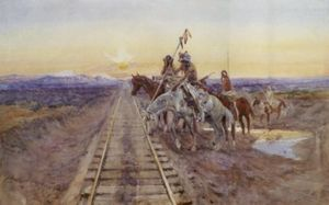 Charles Marion Russell - route de l- fer cheval