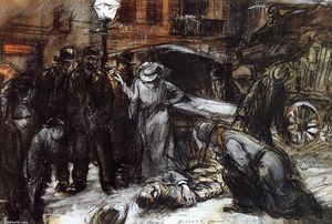 Everett Shinn - vie nocturne , l'accident