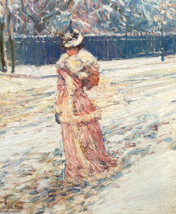 Frederick Childe Hassam - dame rose