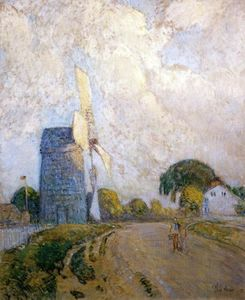 Frederick Childe Hassam - Moulin à vent à Sundown, East Hampton