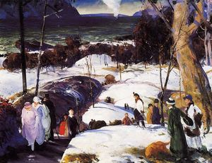 George Wesley Bellows - pâques neige