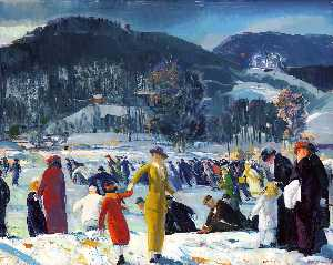George Wesley Bellows - amour des hiver