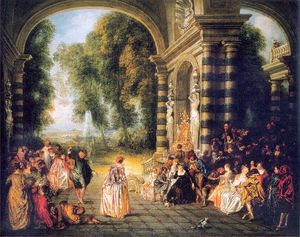 Jean Antoine Watteau - le `pleasures` de l' ball