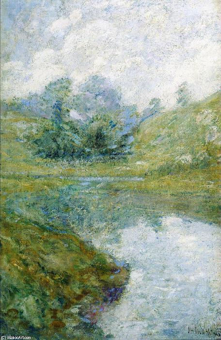 Paysage 3  , Huile de John Henry Twachtman (1853-1902, United States)