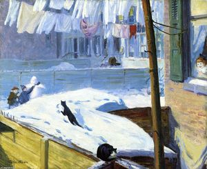 John Sloan - Backyards, Greenwich Village