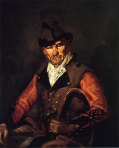 Robert Henri - Segovia Man in bordé de fourrure Hat