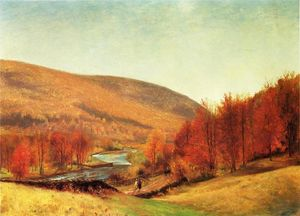 Thomas Worthington Whittredge - paysage dautomne , Vermont