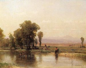 Thomas Worthington Whittredge - Campement sur la rivière Platte