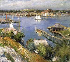 Willard Leroy Metcalf - Gloucester Port