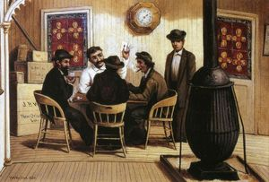 William Aiken Walker - Joueurs de cartes sur le Steamboar