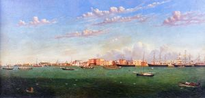 William Aiken Walker - Vue de Galveston Port
