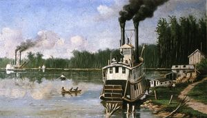 William Aiken Walker - Wooding sur le Bayou