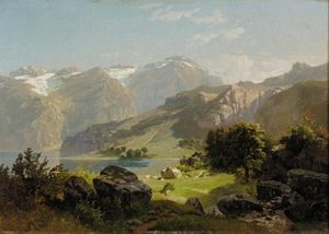 William Trost Richards - a montagne lac