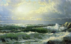 William Trost Richards - Breaking Waves 1