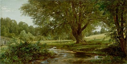 Glade à Oldmixon le comté de Chester  pennsylvanie  de William Trost Richards (1833-1905, United States) | Reproductions D'art De Musée William Trost Richards | WahooArt.com