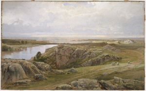 William Trost Richards - bassin aux nénuphars Newport Easton