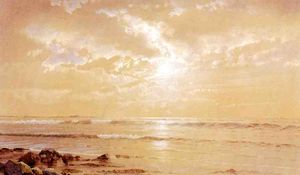 William Trost Richards - sur la plage -   clair de lune